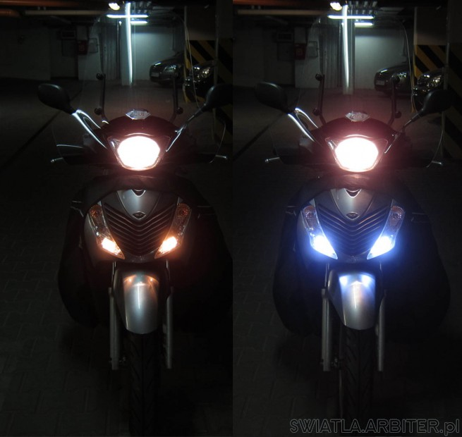 LED vs W5W. Highly recomended LED!. Very good output and power about 2,2W (each)